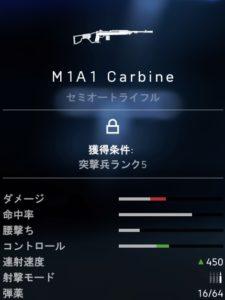 BF5 m1a1 carbine