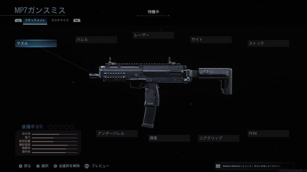 COD MW:MP7